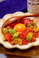 【火を使わないズボラレシピ!!】アボカドとトマトのユッケ