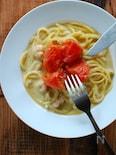 魚介とトマトのクリームパスタ