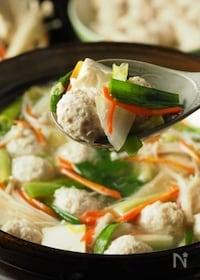 『鶏団子の作り方、ナンコツ入のコリコリ鶏団子鍋』