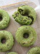 米粉とおからのベイクド ドーナツ♪抹茶小豆