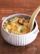 めんつゆで失敗なし*白菜とたっぷりきのこのとろみたまごスープ