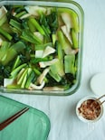 小松菜とエリンギの白だし浸し