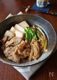 『豚ロース肉でさっぱり!肉豆腐』