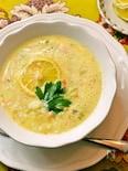 ギリシャ風レモンチキンスープ ー ご飯の入ったヘルシースープ
