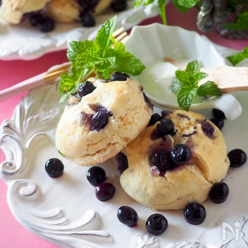 ブルーベリースコーン#冷凍ブルーベリー#おやつ#朝食