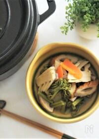 『筍と蕨の田舎煮(ストウブオーブン料理)』