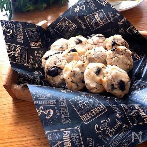 カリッモチッと新食感がクセに♡生おからと米粉のチョコクッキー