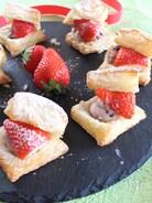簡単和スイーツ♪いちごの粒あんクリームパイ