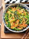 【5分de簡単】錦糸卵deかさ増し♪小松菜と人参の卵ナムル♪