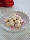 ホワイトチョコのスノーボールクッキー