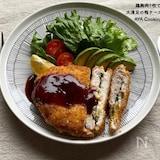 鶏胸肉で‼︎大満足な梅チーズカツ♪