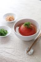 まるごとトマトのおすまし。