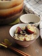 土鍋で作る。きのことさつまいもの炊き込みご飯。