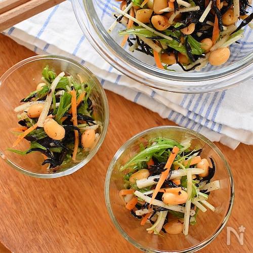 大豆とひじきの発酵サラダ
