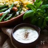 40秒で水切り♪野菜が美味しいヨーグルトチーズドレ(ソース)