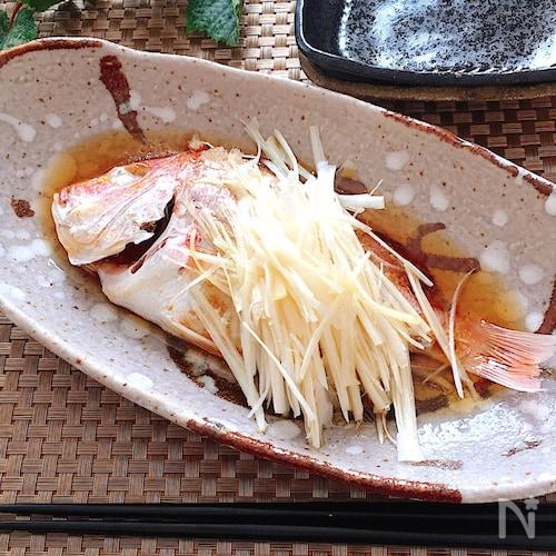 レンジ調理で簡単♡鯛の中華蒸しアツアツごま油がけ