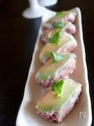 黒米のアボカド生ハム寿司