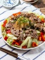 さっぱり美味しい『カリカリ豚のおろしポン酢サラダ』