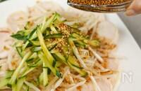 万能タレ♡【レンチン蒸し鶏と野菜の中華タレ】