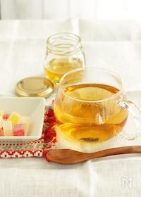 『東方美人茶で作るアレンジティー 蜂蜜ジンジャーティー』