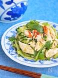 蒸し鶏ときゅうりのピリ辛ナムル