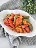 鶏むね肉とトマトのコチュジャン炒め