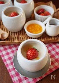 『ヘルシー&プルプル!メープル風味の豆乳プリン』