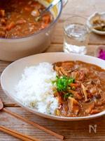 無水鍋で♩野菜の旨味たっぷり豚肉とキノコのカレー
