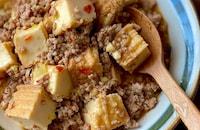 レンジで厚揚げマーボー豆腐