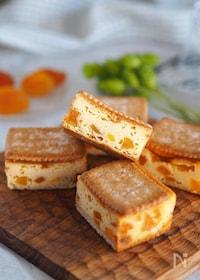 『キュンと甘酸っぱい♪『ココナッツと杏のチーズケーキ』』