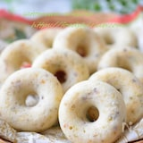 甘じょっぱい簡単おやつ♡ピスタチオの米粉ドーナツ!卵不使用☆