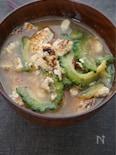 豆腐とゴーヤの味噌汁