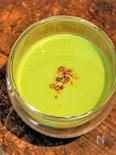 キュウリとピーマンの冷製サマーグリーンスープ