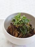 『長芋と舞茸のにんにく醤油炒め』