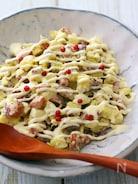 作り置きOK!サツマイモとウィンナーのデリ風サラダ