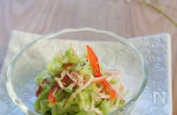 簡単!マヨ無しコールスローサラダ(レンチンすし酢レシピ付き)