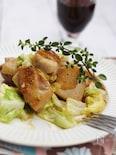 春キャベツと鶏もも肉のしょうが炒め