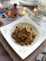 秋の香り~クルミとマッシュルームのスパゲッティ