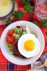 『ライスブロッコリーdeロコモコ丼』