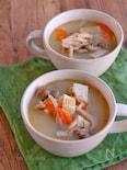 具沢山!ほっこり白だし味噌スープ