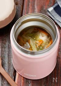『とろとろネギと鶏団子のうま塩スープ【#簡単#スープジャー】』