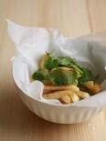 山椒七味のパクチーポテト