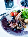 酸味が美味しいラムチョップのグリル*ブルーベリーソース