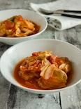 豚ヒレ肉とキャベツのトマト煮