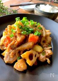 『〝鶏モモと根菜の味噌照り〟時短ボリュームおかず』