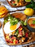 たっぷり夏野菜の、簡単!ガパオライス