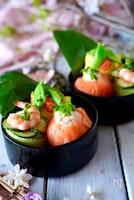 【明太子で簡単ご馳走ご飯】ごちそうお花の手まり寿司