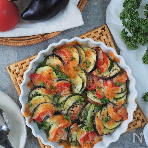 彩り野菜のチーズ焼き