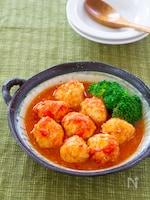チキンボールのレンジトマト煮
