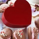 バレンタインに♡サクッとろっ可愛いショコラとベリーのマカロン
